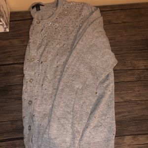 Apt 9 silver cardigan button up